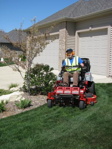 """Example-Regular mowing with 52\"""" deck"""