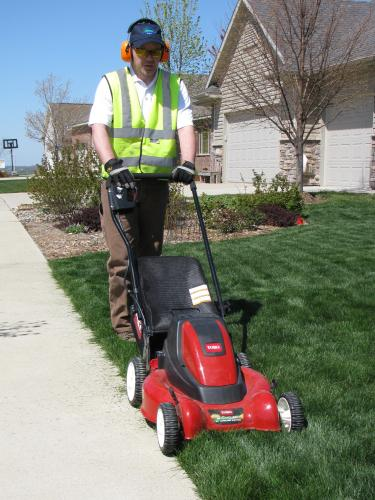 Example-Lawn mowed with an electric mower (Eco-Friendly)